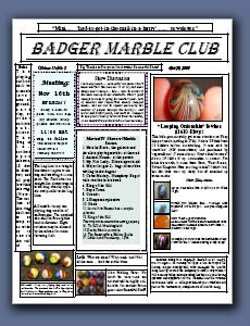 Badger Marble Club Newsletter